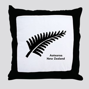 New Zealand (Fern) Throw Pillow