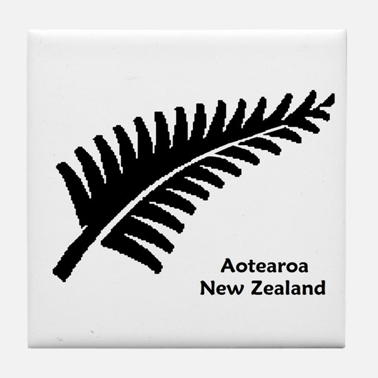 New Zealand (Fern) Tile Coaster