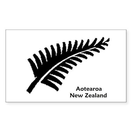 New Zealand (Fern) Sticker (Rectangle)