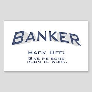 Banker - Work Sticker (Rectangle)
