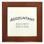 Accountant - Work Framed Tile