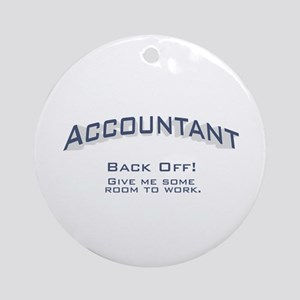 Accountant - Work Ornament (Round)