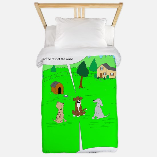 After the dog walk Twin Duvet Cover