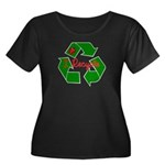 I Recycle Women's Plus Size Scoop Neck Dark T-Shir