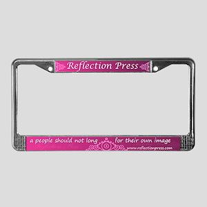 Reflection Press License Plate Frame