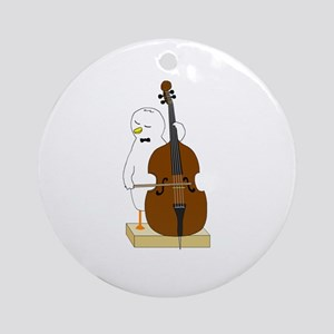 Double Bass Player (round) Round Ornament