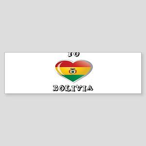 Yo amo bolivia Sticker (Bumper)