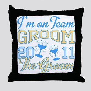 Champagne 2011 Groom Throw Pillow