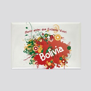 bolivia retro Rectangle Magnet