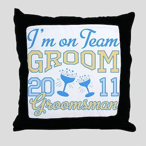 Champagne Groomsman Throw Pillow