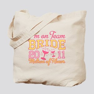 Champagne Matron of Honor Tote Bag