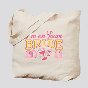 Champagne Team Bride Tote Bag
