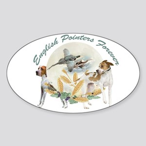 English Pointer Forever Sticker (Oval)