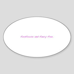 Footloose Sticker (Oval)