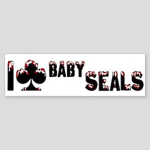I Club Baby Seals Sticker (Bumper)