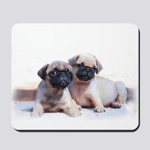 Pug puppies Mousepad