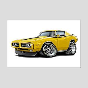1971-72 Charger Yellow-Black Car Mini Poster Print