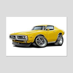 1971-72 Charger Yellow Car Mini Poster Print