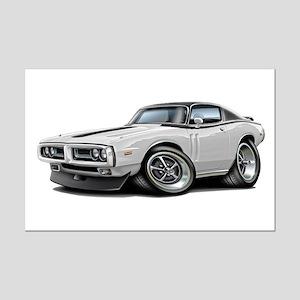 Charger White-Black Top Car Mini Poster Print