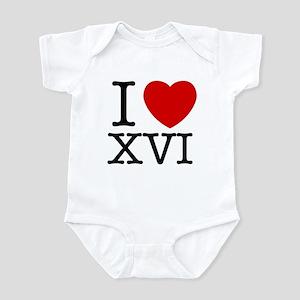 I Love XVI Infant Bodysuit