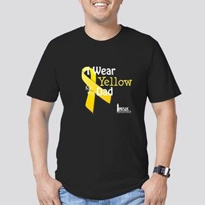 Yellow for Dad Men's Fitted T-Shirt (dark)