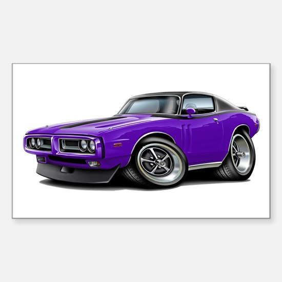 Charger Purple-Black Car Sticker (Rectangle)