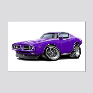 1971-72 Charger Purple Car Mini Poster Print