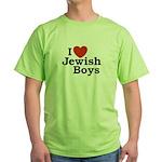 I Love Jewish Boys Green T-Shirt