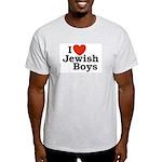 I Love Jewish Boys Ash Grey T-Shirt