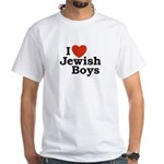 I Love Jewish Boys White T-Shirt
