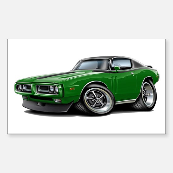 Charger Green-Black Top Car Sticker (Rectangle)