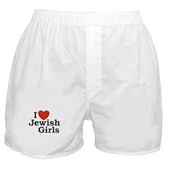 I Love Jewish girls Boxer Shorts