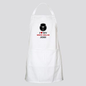 White Collar Apron