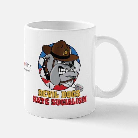 Devil Dogs Hate Socialism Mug