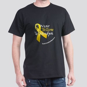 Yellow for Grandpa Dark T-Shirt