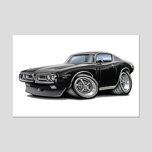 1971-72 Charger Black Car Mini Poster Print