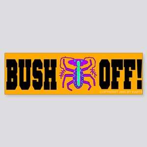 Bush Bug Off! Bumper Sticker