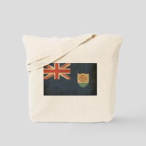 Vintage Anguilla Flag Tote Bag