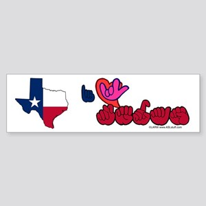 ILY Texas Sticker (Bumper)