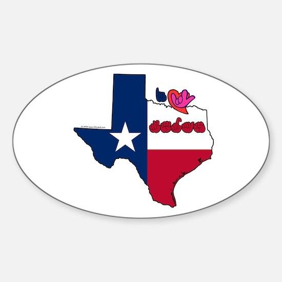 ILY Texas Sticker (Oval)