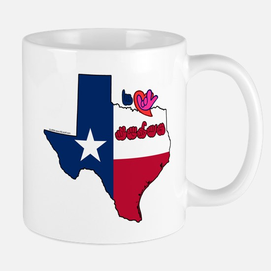 ILY Texas Mug