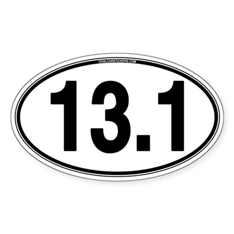 13.1 Euro Oval Sticker (Oval)