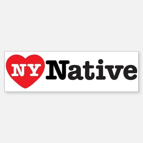 NY Native Bumper Bumper Bumper Sticker