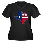 ILY Texas Women's Plus Size V-Neck Dark T-Shirt