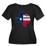 ILY Texas Women's Plus Size Scoop Neck Dark T-Shir