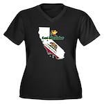 ILY California Women's Plus Size V-Neck Dark T-Shi