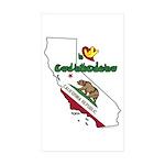 ILY California Sticker (Rectangle 10 pk)