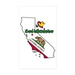 ILY California Sticker (Rectangle 50 pk)
