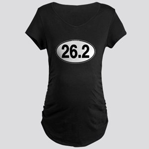 26.2 Euro Oval Maternity Dark T-Shirt