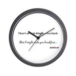 There's no such thing as a free lunch Wall Clock
